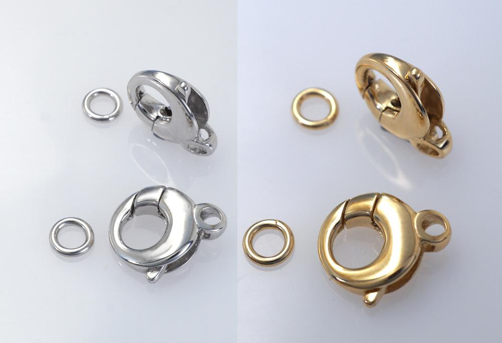 Mousqueton décoratif rond avec anneau