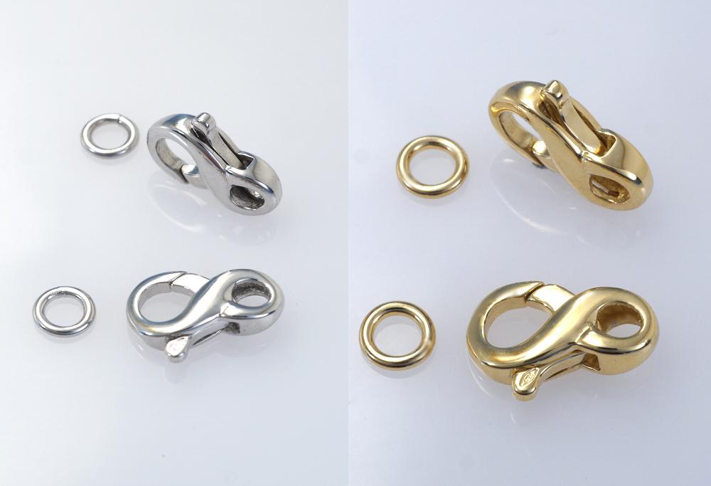 Mousqueton 8 avec anneau