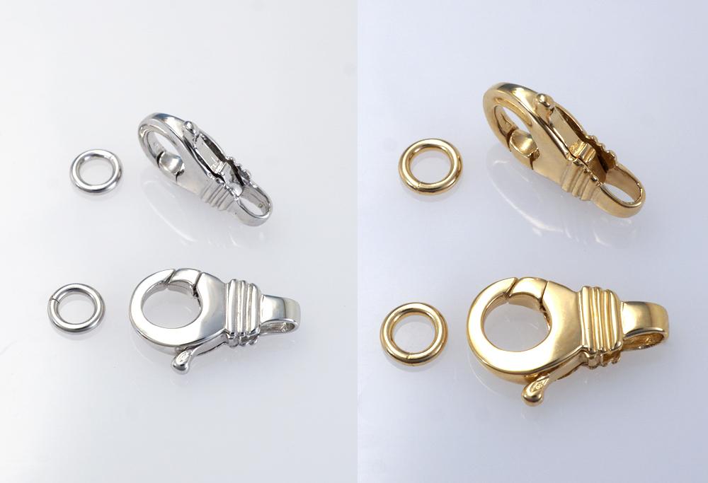 Mousqueton décoratif avec anneau