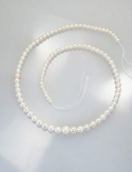 Ref. 863 Perles d'eau douce en chute, chocker 40 cm
