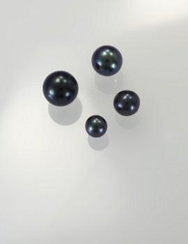 Ref. 866 Perles de culture d'eau douce, gris-arc en ciel