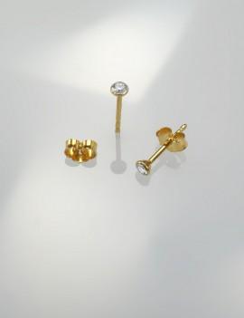 Ref. 726/5 Poussettes d'oreille avec brillant WP1 0,12 ct, 3 mm